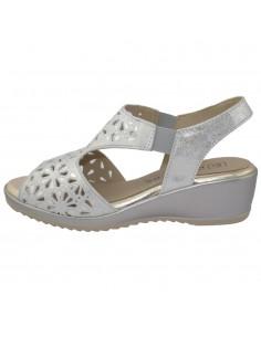 Sandale dama, din piele naturala, marca Pitillos, 5510-19-18-132, argintiu