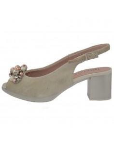 Sandale dama, din piele naturala, marca Pitillos, 5564-19-18-132, bej