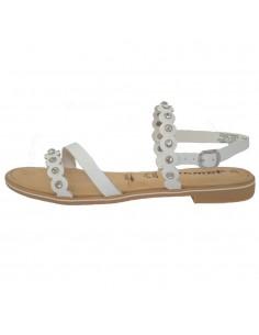Sandale dama, din piele naturala, marca Tamaris, 1-28185-22-13-10, alb