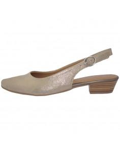 Pantofi dama, din piele naturala, marca Tamaris, 1-29400-22-12-10, auriu