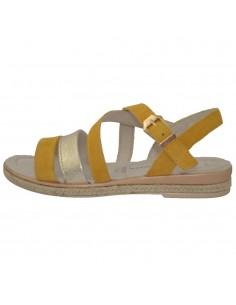 Sandale dama, din piele naturala, marca Marco Tozzi, 2-28126-22-08-08, galben