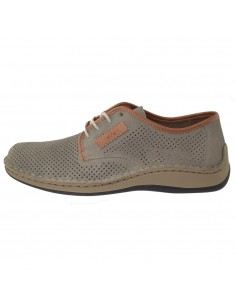 Pantofi barbati, din piele naturala, marca Rieker, 05206-42-19-14-22, gri