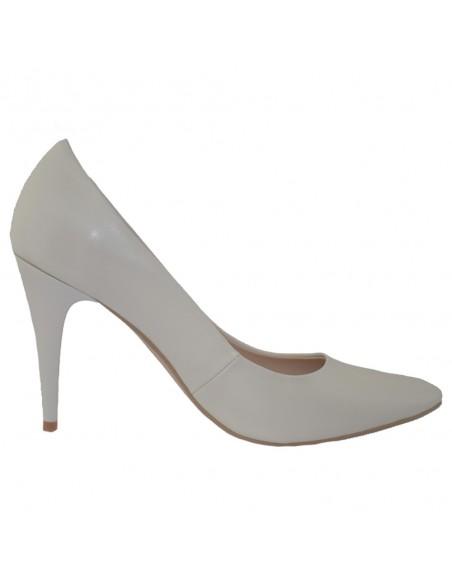 Pantofi dama, din piele naturala, marca Botta, 428-19-13-05, alb