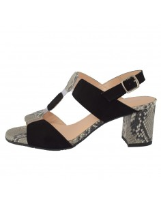 Sandale dama, din piele naturala, marca Brenda Zaro, T2055C-01-84, negru