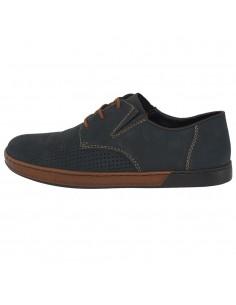 Pantofi barbati, din piele naturala, marca Rieker, B2825-14-42-22, bleumarin