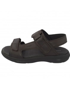 Sandale barbati, din piele naturala, marca Geox, U926VA-C0013-02-06, maro