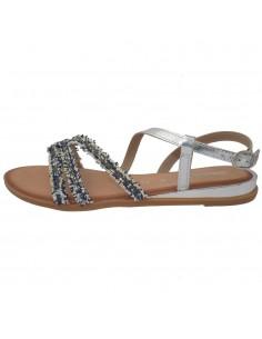 Sandale dama, din piele naturala, marca Gioseppo, 49139-18-12, argintiu