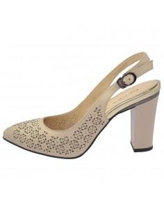 Pantofi dama, din piele naturala, marca Deska, 35314-19-03-33, bej
