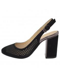 Pantofi dama, din piele naturala, marca Deska, 35322-19-01-33, negru