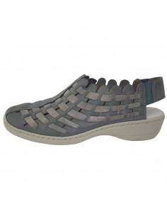 Pantofi dama, din piele naturala, marca Rieker, 413V8-12-42-22, blue