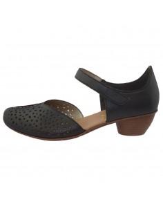 Pantofi dama, din piele naturala, marca Rieker, 43795-19-01-22, negru