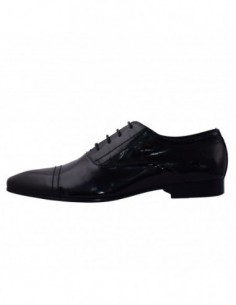 Pantofi eleganti barbati, piele naturala, marca Eldemas, Cod CC039-03-01-24, culoare negru