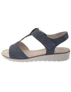 Sandale dama, din piele naturala, marca Jana, 8-28605-22-42-09, bleumarin