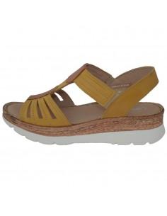 Sandale dama, din piele naturala, marca Carla Sellini, 9113501KAY-08-120, galben