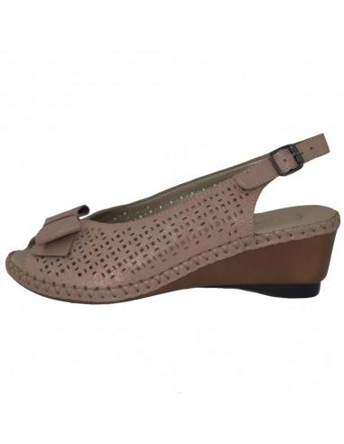 Sandale dama, din piele naturala, marca Rieker, 66167-31-10-22, roze