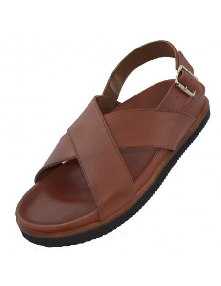 Sandale barbati, din piele naturala, marca KicKers, 694360-60-04-134, camel