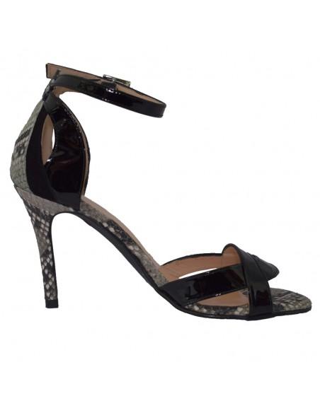 Sandale dama, din piele naturala, marca Brenda Zaro, T3120A-01-84, negru