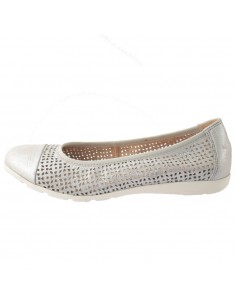 Balerini dama, din piele naturala, marca Caprice, 9-22151-22-18-03, argintiu