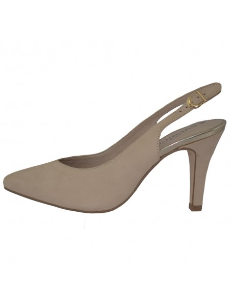 Pantofi dama, din piele naturala, marca Caprice, 9-29602-22-03-03, bej