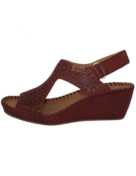 Sandale dama, din piele naturala, marca Pikolinos, 943-1690-05-21, rosu
