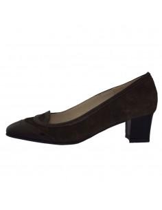 Pantofi dama, din piele naturala, marca Raxela, 217-02-88, maro