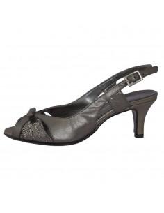 Sandale dama, din piele naturala, marca Zodiaco, 257-18-77, argintiu