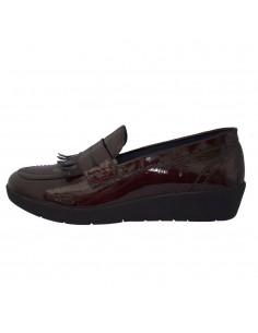 Pantofi dama, piele naturala, marca Walk, Cod 9214-30-38, culoare visiniu inchis