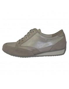 Pantofi dama, piele naturala, marca Waldlaufer, Cod 363002-18-04, culoare argintiu