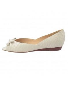 Balerini dama, piele naturala, marca Geox, Cod D62P7C-03-06, culoare alb satin