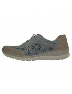 Pantofi sport dama, piele naturala, marca Rieker, Cod L3206-14-22, culoare albastru