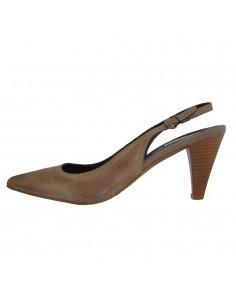 Pantofi dama, din piele naturala, marca Carmens, 23509-03-35, taupe