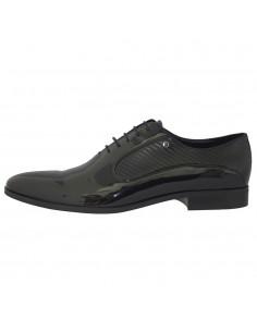 Pantofi barbati, piele naturala, marca Conhpol, Cod 4307-01-40, culoare negru