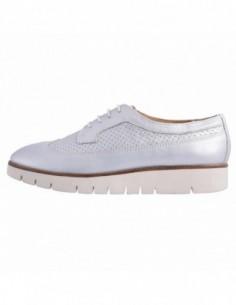 Pantofi dama, piele naturala, marca Geox, Cod D720BA-18-06, culoare argintiu