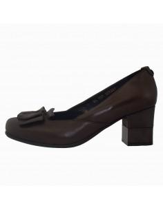 Pantofi dama, din piele naturala, marca Stefano, 16220204-02-N-135, maro