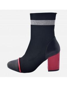 Botine dama, din textil si sintetic, marca Gioseppo, 75685-19-01-12, negru