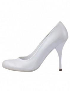 Pantofi dama, din piele naturala, marca Perla, K7065-13-76, alb