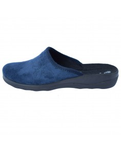 Papuci de casa dama, din textil, marca Inblu, CA000039-42-89, bleumarin