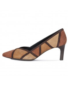 Pantofi dama, din piele naturala, marca Geox, D949CA-C6165-02-06, maro