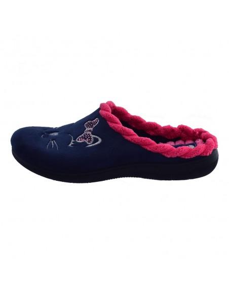 Papuci de casa dama, din textil, marca Inblu, EC000045-42-89, bleumarin