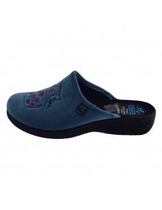 Papuci de casa dama, din textil, marca Fly Flot, L3Q76-PD-M6-116, bleo