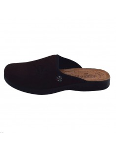 Papuci de casa barbati, din textil, marca Fly Flot, P7962-WE-02-116, maro