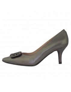 Pantofi dama, din piele naturala, marca Brenda Zaro, T3458B-N-P1-84, platin