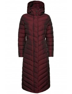 Jacheta textil  dama, din poliamida, marca Geox, W9425L-F8266-E8-06, visiniu inchis