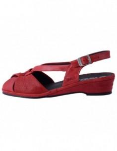 Sandale dama, piele naturala, marca Suave, Cod SU0012T-05-31, culoare rosu