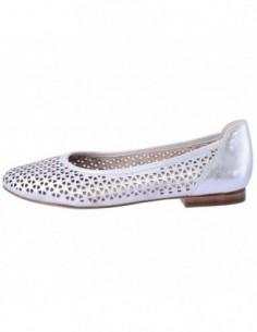 Balerini dama, piele naturala, marca Caprice, Cod 22108-18-03, culoare argintiu