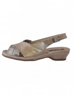 Sandale dama, piele naturala, marca Otter, Cod SU817T-03-12-79, culoare bej cu auriu