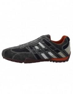 Pantofi sport barbati, piele naturala, marca Geox, Cod U1107N-14-06, culoare gri
