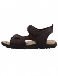 Sandale barbati, piele naturala, marca Geox, Cod U4224A-02-06, culoare maro