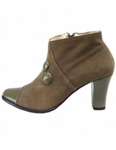 Botine dama, piele naturala, marca Raxela, Cod 591-40-88, culoare kaki