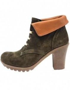 Ghete dama, piele naturala, marca Endican, Cod 150-40-72, culoare kaki